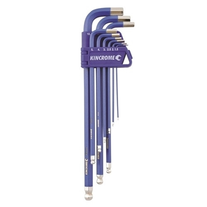 Picture of Ball Point Hex Key Set Long Series 9 Piece