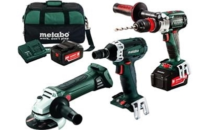 Picture of Metabo 18v 3 Piece 5.2 Ah Combo with Quick Chuck