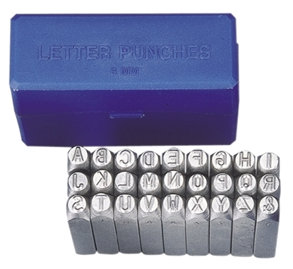 Picture of 27 Piece 3mm Steel Letter Punch Set